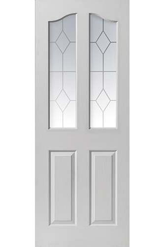 Internal Door White Moulded Edwardian 2 Light