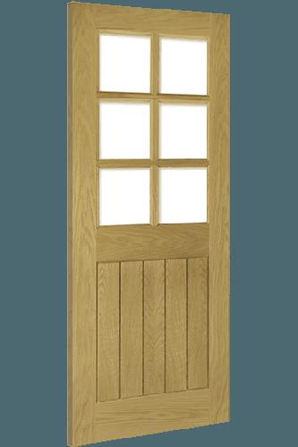 Oak Ely 6 Light Glazed Door Deanta