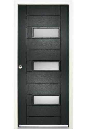 LPD Enduradoor External Portamaso with Obscure Glass Doorsets GREEN Discontinued CLEARANCE