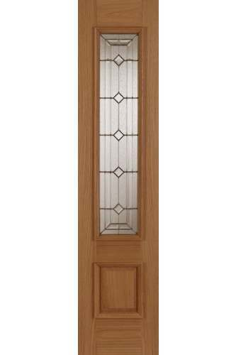 External Oak Empress / Sovereign Sidelight with Raised Moulding (one side) Supplied Untreated