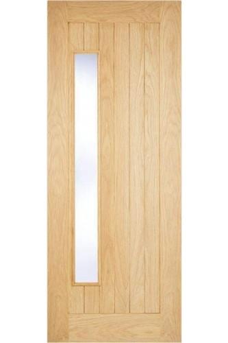 External Door Oak Newbury 1 Light Frosted Glass Untreated Part L LPD