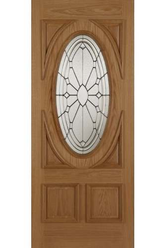 External Door Oak Sovereign with Raised Moulding 1 Side