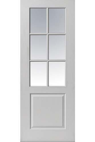 Internal Door White Moulded Faro Glazed