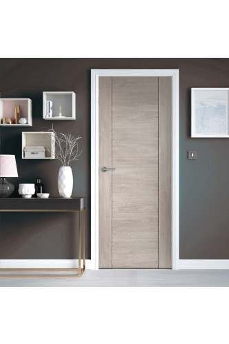 Internal Door Laminate Light Grey Alabama Fumo Wood Effect Prefinished