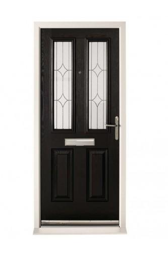 External Pre Hung Malton Composite Door Set With