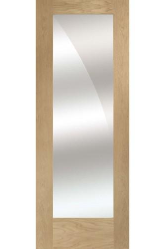 Internal Door Oak Pattern 10 With Mirror Glass Untreated