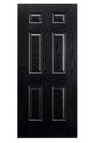 External Door Composite GRP Colonial 6 Panel Prefinished - Suitable for trimming 60mm (Door Only) - Colour options