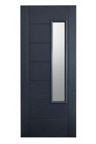 External Door Composite GRP Newbury  GREY 1 Light Prefinished - Suitable for trimming 60mm (Door Only)