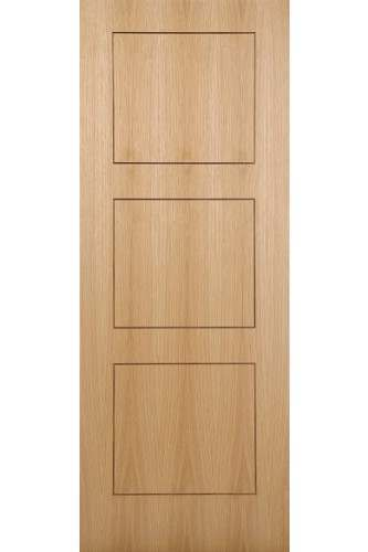 Internal Door Oak Inlay 3 Panel with Walnut Inlay Pre finished Discontinued