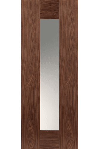 Internal Door Walnut Axis with Clear Glass Prefinished - New for 2015