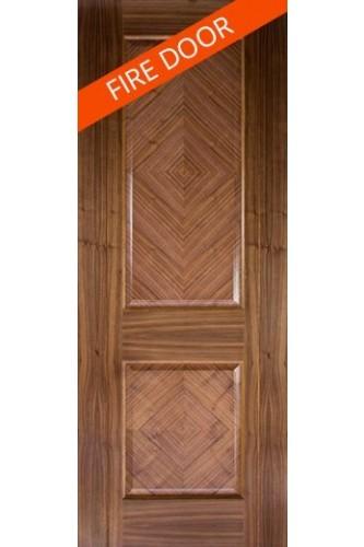 Internal Fire Door Walnut Kensington Prefinished
