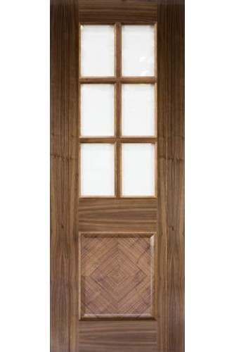Internal Door Walnut Kensington Glazed Prefinished
