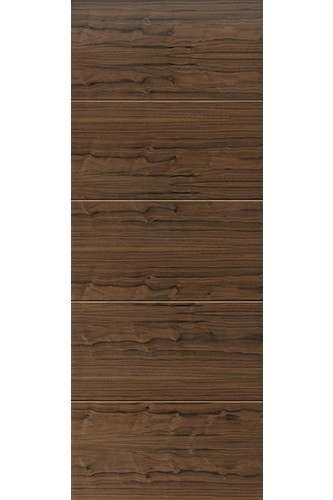 Internal Door Walnut Flush LARA with Grooves prefinished