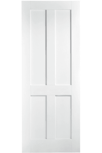 Internal Door White Primed London Shaker 4 Panel Lpd