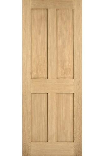 Internal Fire Door Oak London Shaker 4 Panel Untreated LPD