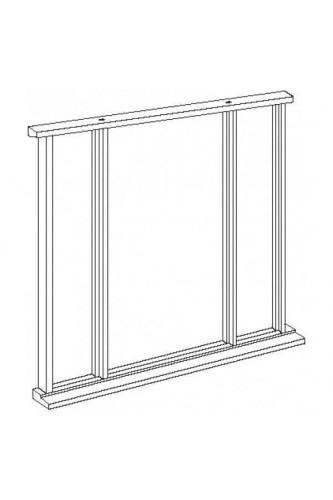 External Door Frame Hardwood Vestibule Universal Sidelight Kit Untreated LPD
