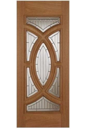 External Door Oak Majestic with Zinc Caming Untreated (Single Door Leaf)