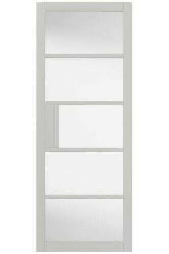 Internal Door Urban Industrial Metro White With Clear Glass