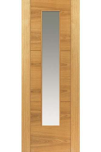 Internal Door Oak Mistral with Clear Glass Prefinished SPECIAL OFFER