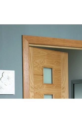 Internal Oak Veneered Architrave Set Prefinished Modern Profile