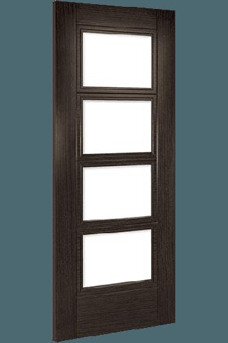 Montreal Dark Grey Ash Door with Clear Glass