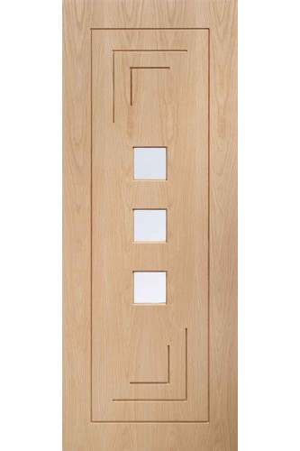 Internal Door Oak Altino with Clear Glass Prefinished - DISCONTINUED please ring to check availability
