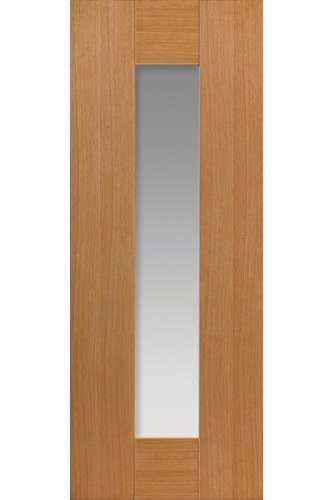 Internal Door Oak Axis with Clear Glass Prefinished - New for 2015