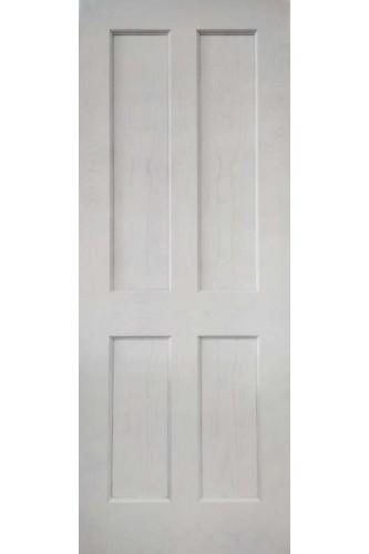 Internal Door White Primed Oak Essex 4 Panel with Bead