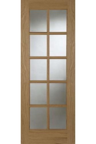 Internal Door Oak 10 Light Glazed