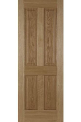 Internal Fire Door Recessed Oak 4 Panel Non Raised Mouldings Untreated