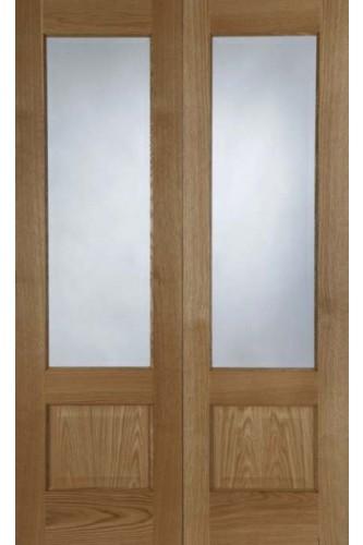 Internal Door Pair Oak Chiswick Prefinished