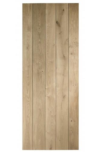 Internal Door Solid Oak Rustic Ledged Untreated XL