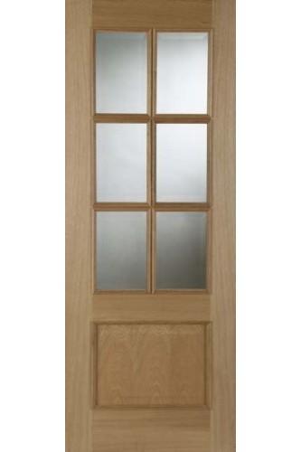Internal Oak Door Iris 6 Light Fire Door with RM