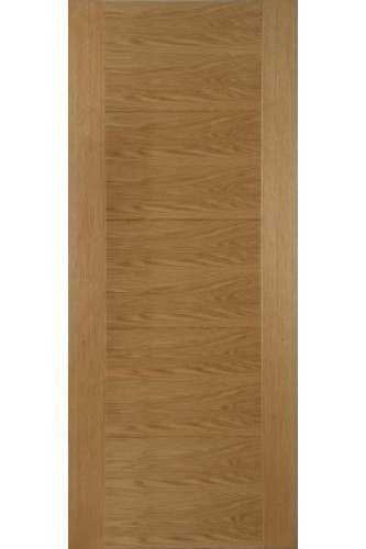 Internal Fire Door Oak Iseo Panelled Particle Board FD30 Pre Finished
