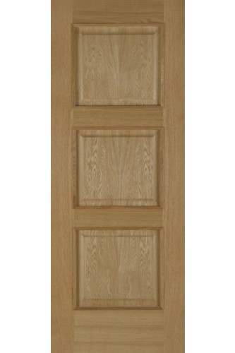 Internal Door Oak Madrid Fire Door 3 Panel with Raised Mouldings Pre Finished