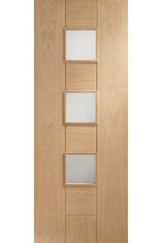 Internal Door Oak Messina With Obscure Glass SEALED - CLEARANCE - 33""
