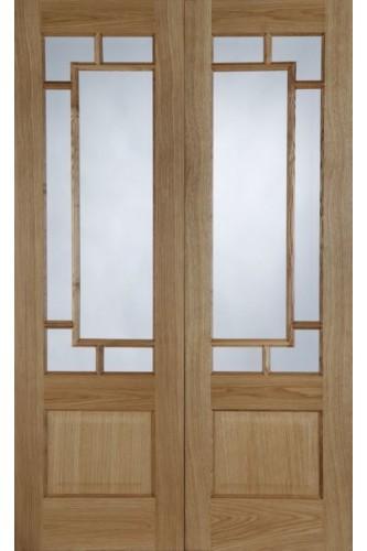 Internal Door Pair Oak Orient Pre Finished