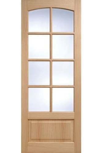 Internal Door Oak Worthing 8 Light with Clear Glass unfinished SPECIAL OFFER  DISCONTINUED