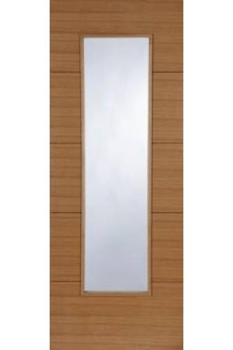 Internal Oak Door Orta 1 Light with Clear glass Prefinished