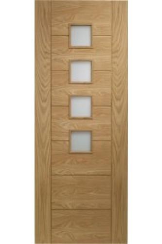 Internal Door Oak Palermo Obscure Glazed Prefinished