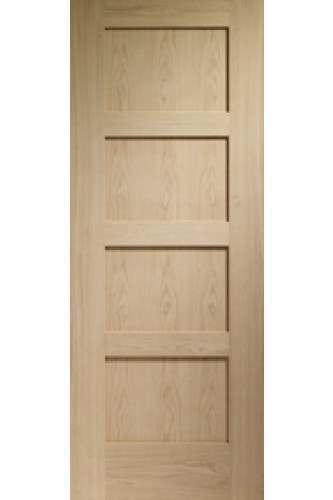Internal Door Oak Shaker 4 Panel Only