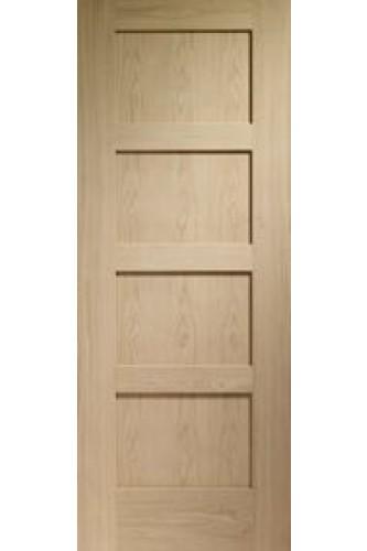 Internal door oak shaker 4 panel pre finished for 1 panel shaker door