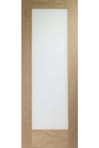 Internal Door Oak Pattern 10 with Obscure Glass Untreated