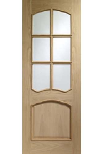 Internal Door Oak Riviera with Raised Moulding Unfinished XL
