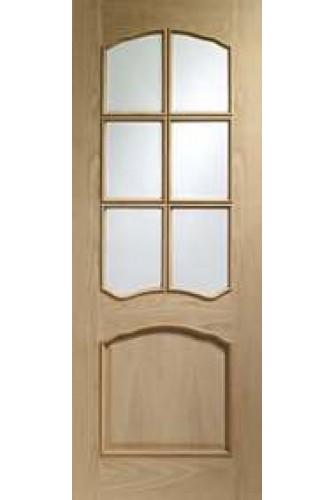 Internal Door Oak Riviera with Raised Moulding Unfinished XL