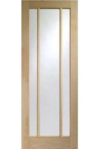 Internal Door Oak Worcester with Clear Glass Untreated *SPECIAL OFFER*