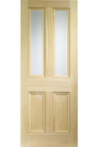 Internal Door Clear Pine Edwardian Vertical Grain with Clear Bevelled Glass