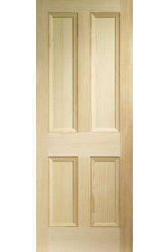 XL Internal Door Vertical Grain Pine Edwardian 4 Panel