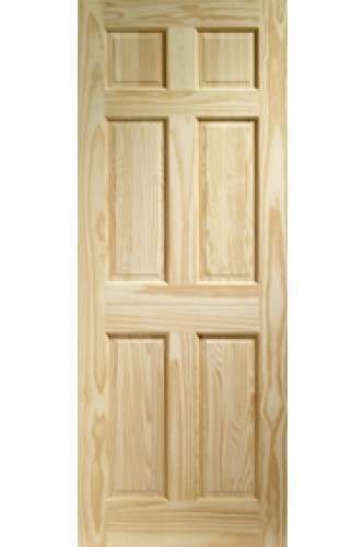 XL Internal Door Colonial Clear Pine 6 Panel