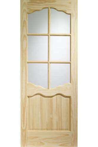 XL Internal Door Clear Pine Riviera with Clear Glass